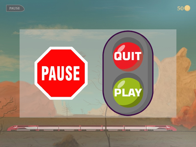 Pause menu app icon ux ui assets asset game art game painting digital painting egypt drawing logo digital vector art study design illustration