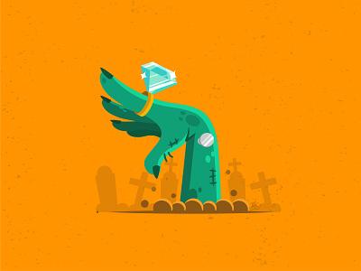 Zombie Hand illustrator cc logo vector digital illustration illustration art design ring zombie halloween design halloween