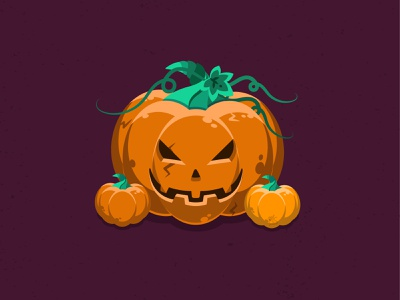 Pumpkin icon halloween party digital illustration vector illustration art design pumpkins halloween design halloween
