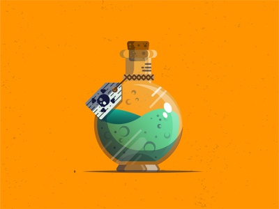 Potion or Poison digital design digital illustration illustrator cc icon vector design october halloween design halloween death poison potion