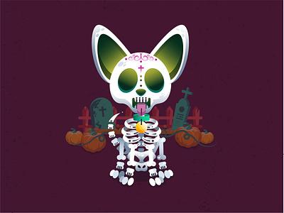 Loyal Bones detail digital design digital illustration illustrator cc illustration art vector design pumpkin skull and crossbones bones loyalty skull dog