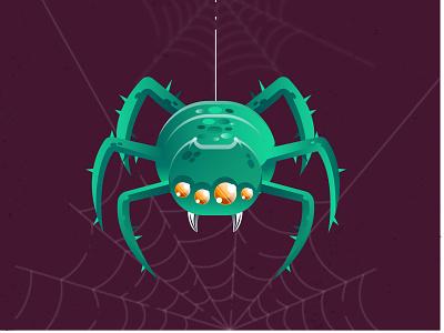 Spider digital design digital illustration detail icon illustrator cc illustration art vector design halloween design halloween spider