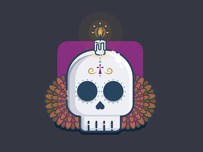 Sugar skull vector design illustration