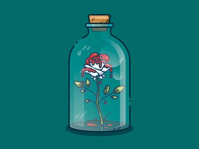 White Roses illustrator red white illustration art illustration crystal flower vector design