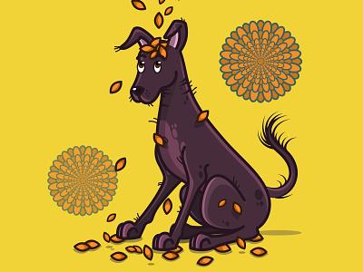 Cempasuchil Flower vector art illustrator cc illustrator illustration art illustration dog icon vector flower design