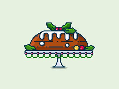 Christmas cake! dessert cherry candy party event christmas time fruit cake christmas food art food design vector illustrator illustration art illustration
