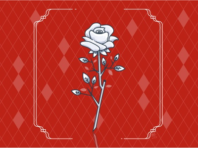 White Roses digitalillustration digital 2d red colors mixtape sing in singer spring xcx charli art flower illustrator cc illustrator illustration art vector illustration design