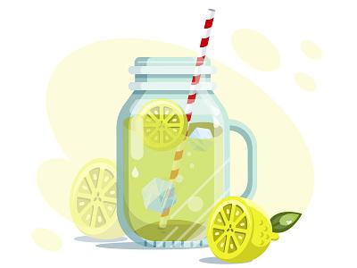 New Lemonade colors fresh summer drink lemonade digitalillustration detail icon crystal art vector illustrator illustration art illustration design