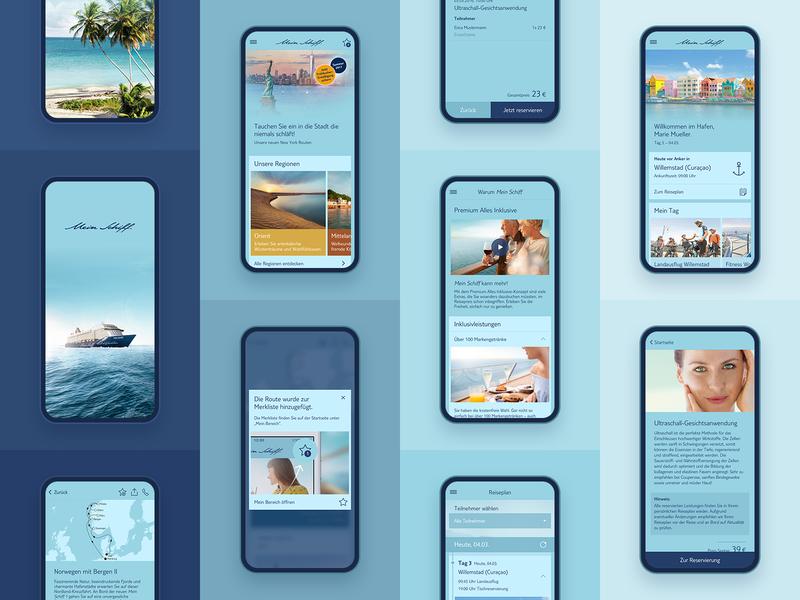 Travel App Screen Wallpaper ui-design ui phones mobile cruise ship shades of blue iphone x wallpaper app travel