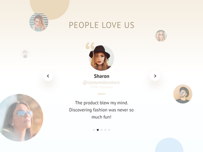 Fashion Product Landing Page Trust Section
