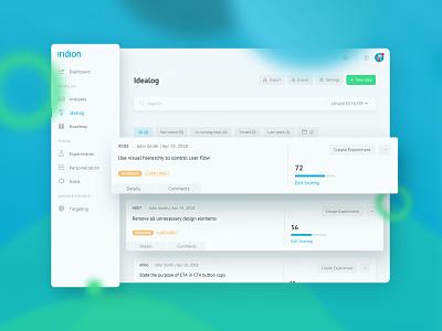 Conversion Optimization App – Product Design interface ui dashboard ideas product design app optimization conversion
