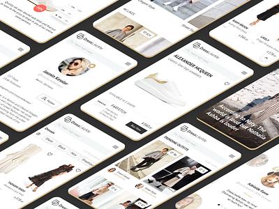 AI Fashion Startup Mobile Design product isometric ecommerce gold mobile design ui webdesign branding machine learning startup fashion