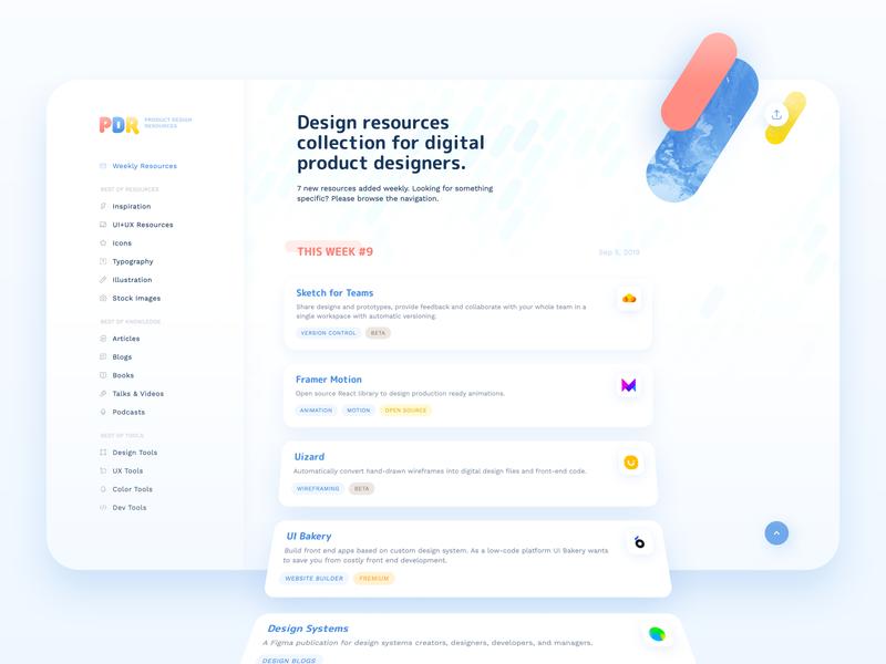 Product Design Resources useful ui product design product website web logo resources links free digital design branding blue