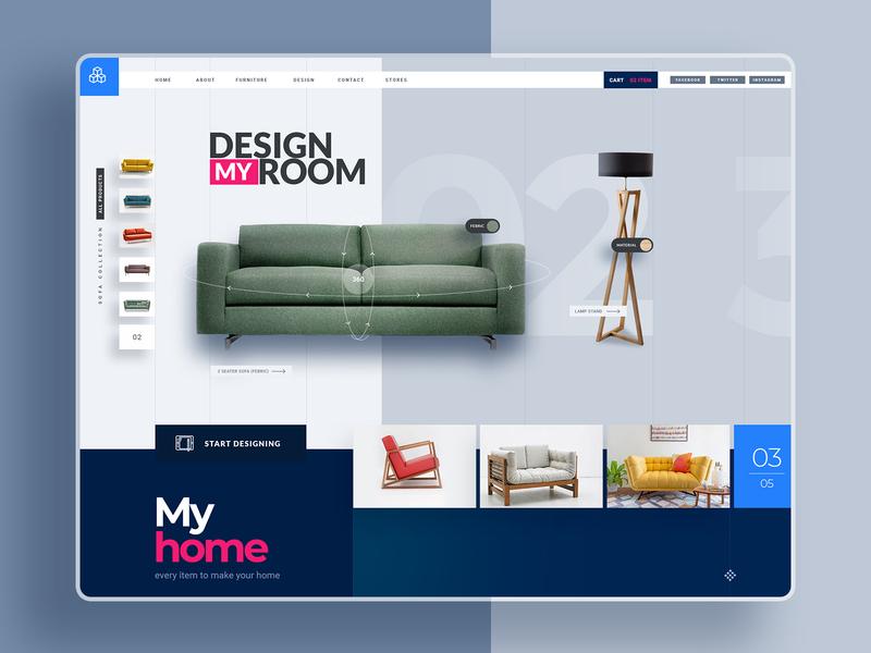 DesignMyHome-A product Design furniture app mobile app prototype vr art product design branding ui design creative app