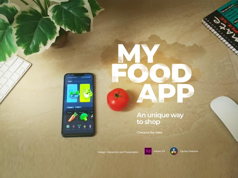 Concept Future Shopping Experience tutorial mobileapp shoppingapp foodapp presentation prototype basic editing masking