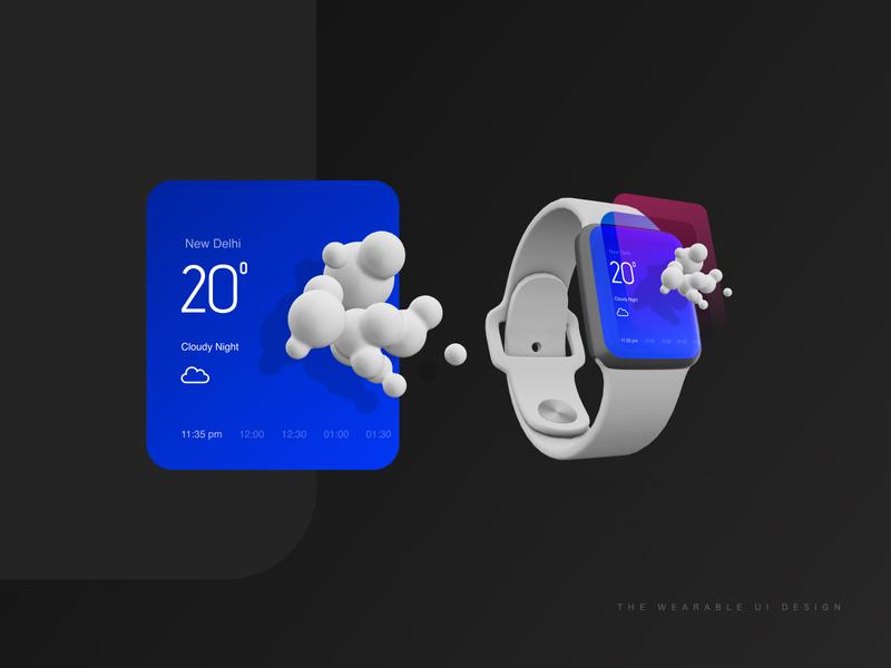 Wearable UI design creative illustration mobile app branding app wearables ux ui design