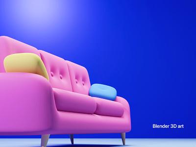 3D Sofa Model part-2 ui design branding creative website shopping furniture sofa 3dmodel