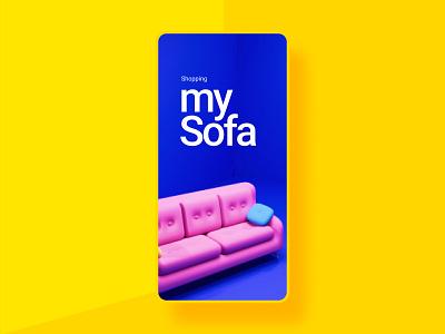 Online Furniture Shop | Mobile App furniture app modeling 3d design ui designs mobileapp ui design prototype interaction