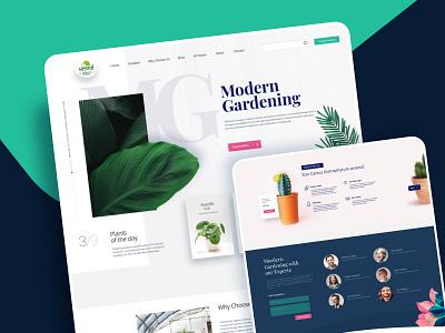 Gardening Solutions gardening interaction mobile app prototype website creative ui design