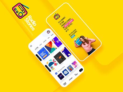 RadioStory-Podcast Listen Stories podcast radio prototype mobile app branding website interaction ui design