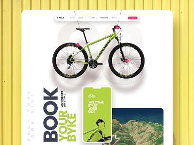 Book Your Bike - Mobile App bike ride book bike illustration mobile app branding website interaction ui design