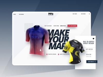 INK-Online Sports Outfits Makers illustration interaction branding website creative cycling product design design online print