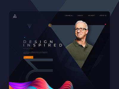 Creative Agency-Landing Page for Professionals ux typography illustration design ui design interaction creative landing page design landing branding website