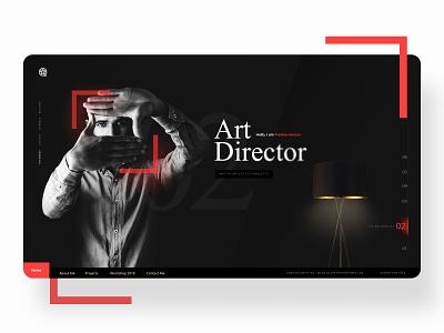 Personal Portfolio-Art Director portfolio website art direction app landing page design ux ui design creative branding website webdesign