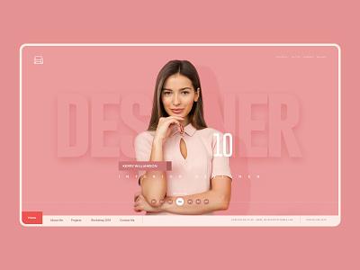 Personal Portfolio-Designer ux interior designer designer portfolio site illustration creative portfolio website portfolio ui design branding website