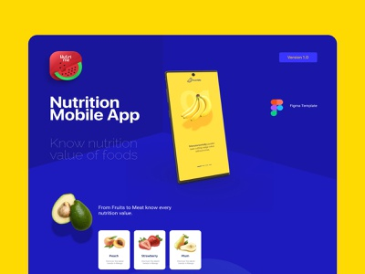 Nutrition App-Landing Page typography nutrition app design ux interaction creative landing page design prototype branding website ui design