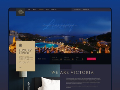 The Luxury hotel-Landing Page hotel branding design ux branding holiday ui design interaction creative website landingpage hotel booking hotel