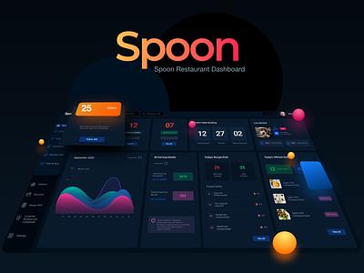 Spoon-The Restaurant Saas Dashboard #2 typography prototype app design food app restaurant app dashboard app dashboard design mobile app branding website creative