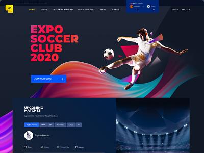 Soccer Landing Page design sports website football club landing page design ui design mobile app branding website creative