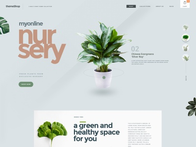 Online Nursery creative branding landing page design ui design design interaction website online shop nursery
