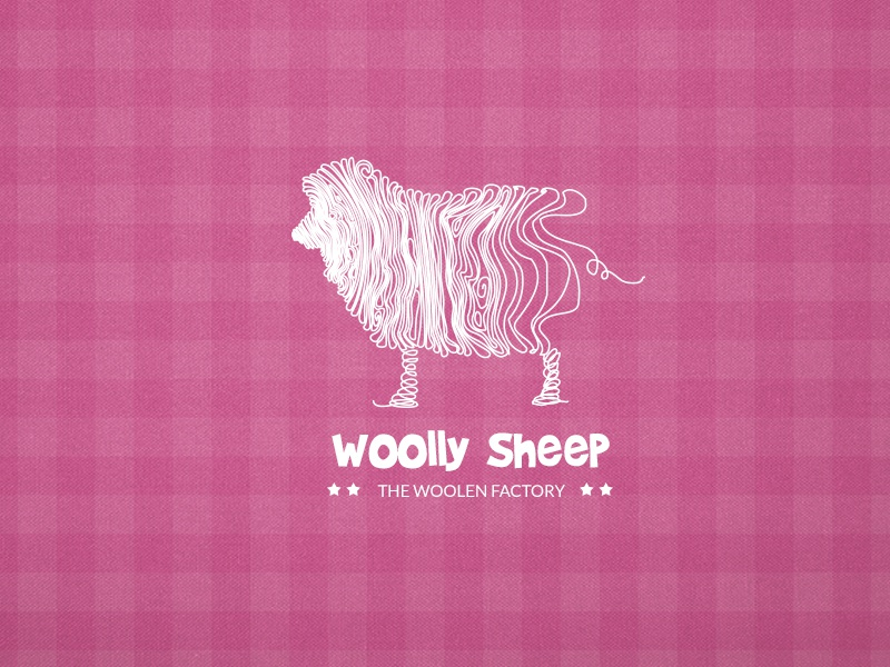 The Woolly Sheep logo vector industry wool creative illustration vintage