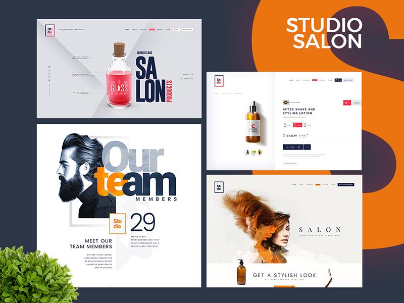 Studio Salon creative professional graphic resume works portfolio cv website studies ux designer ui