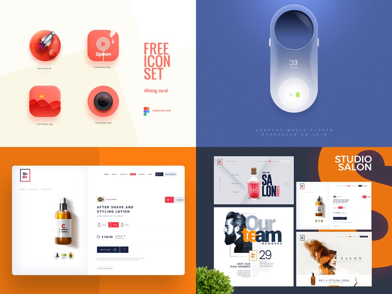 My Best Of 2018 web app designer website portfolio branding logo illustration design creative ui design ux