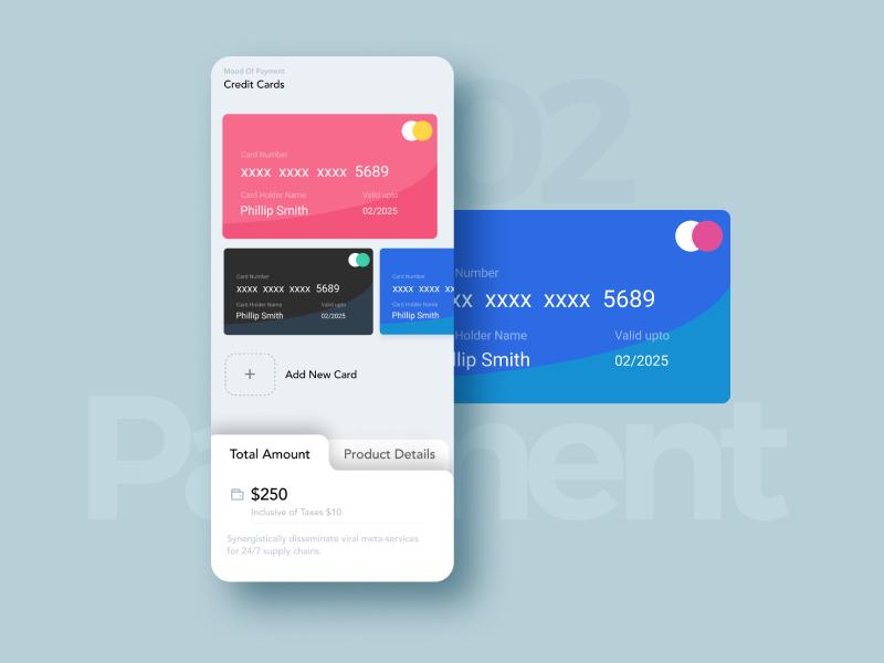 Credit Card Checkout-#DailyUI 02 dailyui branding typography website interaction prototype app ux creative ui design mobile app mobile ui ui