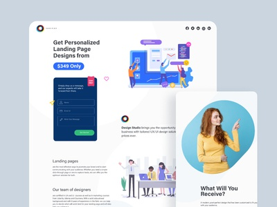 Landing Page For Landing Page-#DailyUI 03
