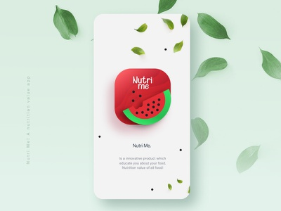 App Icon-Nutri Me #DailyUI 05 food health app nutritionist prototype icon ui app logo website branding ui design ux