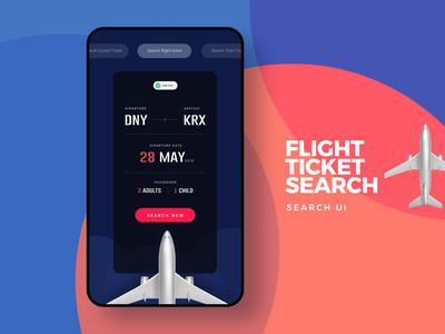 Search Flight Tickets #DailyUI 22
