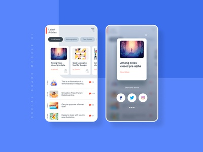 Social Share Module UI #DailyUI 10