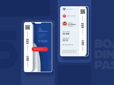 Boarding Pass  #DailyUI 24