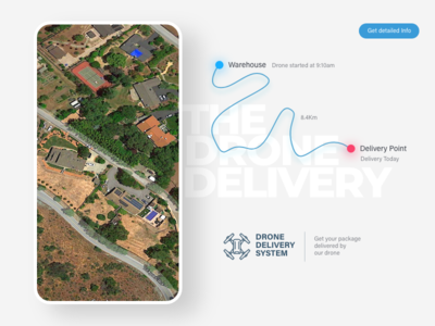 Map-Drone Delivery #DailyUI 29