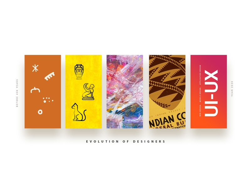 Evolution Of Designers medium illustration branding website creative ui design ux blog post graphics designer evolution blog