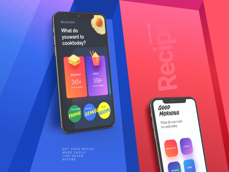 The Presentation-Recipe recipe creative interaction mobile app dailyui branding app website ui design ux