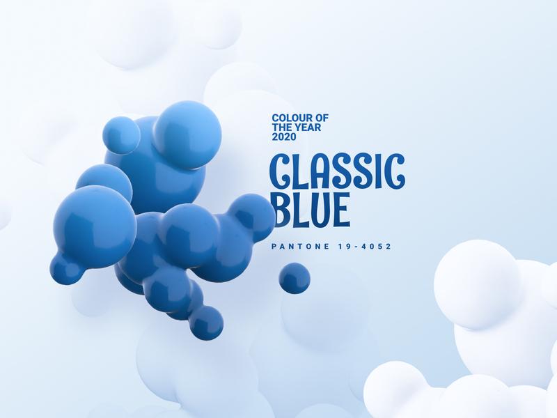 Colour Of The Year-Classic Blue ux branding interaction ui design ui colour palette classic blues 2020 trend pantone colour