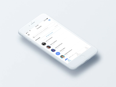 Animation for CRM App prototype scrolling swipe animation crm principle sketch interaction ux ui