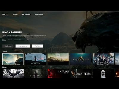 Movie Streaming App 1080p streaming app movie ui design ux design ux uiux ui experiment interaction principle animation