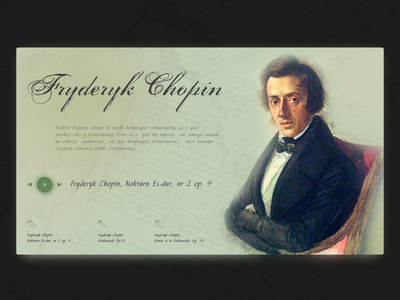 Chopin chopin music homepage dailyui creativity colour webdesign ui